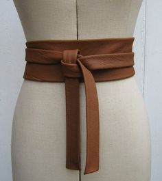 Saddle tan leather knot wrap belt: $40.00 from ElizabethKelly