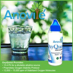 Studies have shown that the amount of oxygen in the air that we breathe has decreased by as much as 50% compared to the days of our ancestors. The four modern-day stressors–toxic stress, emotional stress, physical trauma, and infections–increase the body's acidity level, further depleting the body's oxygen supply. Anovité OxyQuest was formulated to harness oxygen's tremendous benefits in a form that would be stable and non-toxic.