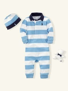 Rugby Coverall Gift Box - Layette One-Pieces - RalphLauren.com