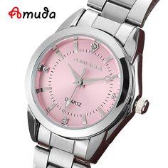 2016 Fashion Women Pink Dress Watches Luxury Women's Casual Watch Ladies Rhinestone Quartz-watch Wristwatches relogio feminino