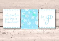 Frozen Printable Quotes Instant Download Set of 3