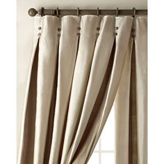Amity Home Each 96L Inverted Pleat Curtain ($615) ❤ liked on Polyvore featuring home, home decor, window treatments, curtains, amity home, stripe curtains, pleated draperies, pleated curtains and two tone curtains
