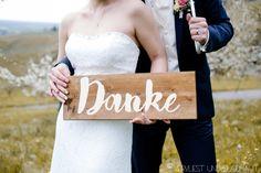 DIY Braut Nina von Vervliest & Zugenäht - Danke-Schild
