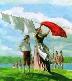 Anna Smith Strong (1740-1812) was an American patriot and member of the Culper Spy Ring during the American Revolution. She communicated messages through laundry. Certain clothes hung on her clothesline sent warnings and messages to the patriots.