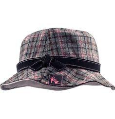 Barbie Collector Flannel Bucket Hat Plaid Pattern One Size Retired Grey Gray  #Mattel