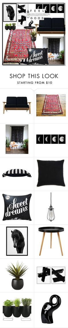 """Edgy home decor by SFRugs"" by sfrugs ❤ liked on Polyvore featuring interior, interiors, interior design, home, home decor, interior decorating, Rove Concepts, Signature Design by Ashley, CB2 and Authentics"