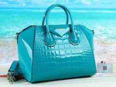 bag, blue, and purse image