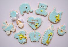 Giraffes baby cookies