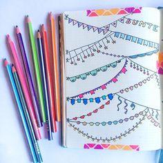 Planner Bullet Journal, Bullet Journal Headers, Bullet Journal Banner, Bullet Journal Notes, Bullet Journal Aesthetic, Bullet Journal Ideas Pages, My Journal, Bullet Journal Inspiration, Doodle Borders