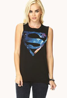 Celestial Superman Muscle Tee   FOREVER21 - 2000076334 Love this so much! #WishPinWin #ForeverHoliday