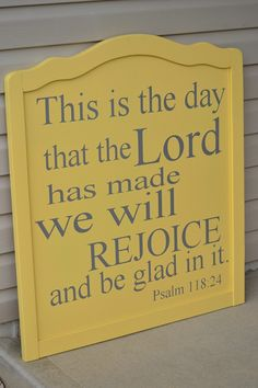 This is THE DAY...rejoice!