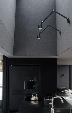 The Vipp Shelter vipp kitchen Minimal House Design, Floor Slab, Black Rooms, Minimal Living, Forest Design, Sleeping Under The Stars, Minimal Decor, Dark Interiors, Küchen Design