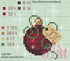 Ball cross stitch Christmas ornament by Cross Stitch Christmas Ornaments, Xmas Cross Stitch, Cross Stitch Love, Christmas Cross, Counted Cross Stitch Patterns, Cross Stitch Charts, Cross Stitch Designs, Cross Stitching, Cross Stitch Embroidery