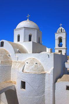 Church in Pyrgos village, Santorini