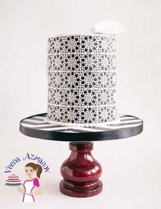 This lace inspired birthday celebration cake in black and white is elegant and pretty as the lady herself. A wafer paper lace cake is probably one of the easiest cakes to make and decorate when y 50th Birthday Cake Toppers, Birthday Cake Decorating, Cake Birthday, Birthday Cake For Women Simple, Celebration Cakes, Birthday Celebration, Birthday Wishes, Easy Cakes To Make, Wafer Paper Cake