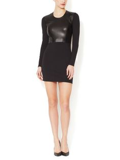 Leather Bodice Sheath Dress-Helmut Lang Badassery at it's finest!