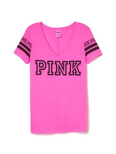 V-Neck Tee - PINK - Victoria's Secret