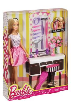 Mattel 'Barbie® Style Your Way' Doll & Hair Accessory Set available at #Nordstrom