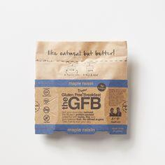 Power Breakfast: Maple Raisin  Simple, non-GMO ingredients: certified gluten-free oats, California raisins, pure maple sugar, raw hemp seed hearts, toasted sunflower seeds (sunflower kernels, salt, canola oil), golden flaxseed, cinnamon, sea salt.