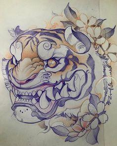 tattoos in japanese prints Japanese Tattoo Art, Japanese Tattoo Designs, Japanese Art, Japanese Prints, Japanese Style, Japan Tattoo Design, Tiger Tattoo Design, Images Graffiti, Samourai Tattoo