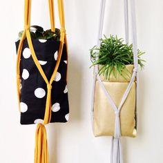 Knotty plant hangers ➕ mason jar plant sacs for a greener #handmadechristmas