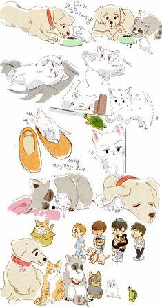 Exo Anime, Anime Art, Exo Exo, Sehun, Exo Stickers, Exo Fan Art, Fanarts Anime, Light Of My Life, K Idol