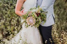 Australian native flower bridal bouquet // PC: Curly Tree Photography