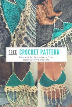 Free crochet pattern for a boho crochet top. The fringe and lace finishers add some cute texture to this crochet top! Free crochet pattern for a boho crochet top. The fringe and lace finishers add some cute texture to this crochet top! Crochet Diy, Beau Crochet, Crochet Simple, Mode Crochet, Crochet Tutorials, Tutorial Crochet, Crochet Projects, Free Crochet Top Patterns, Crochet Summer