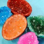 Science experiments for children - Geodes in eggshells