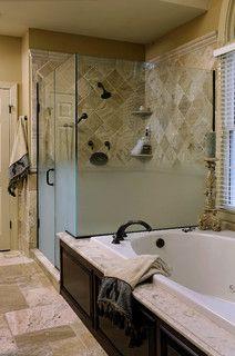 Good Bath - traditional - bathroom - dc metro - by Davida's Kitchen & Tiles Shower & bath combo idea for bathroom