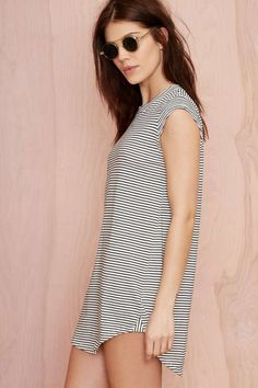 Nasty Gal Line 'Em Up Striped Tee - Tees