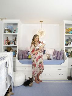 molly sims nursery is so relaxing. i love the idea of a daybed in the nursery for those long nights/days....