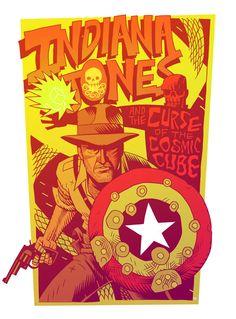 Indiana Jones AND Captain America's shield?! LOVE <3 <3 <3