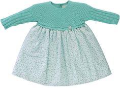 Green flowery dress - Wedoble