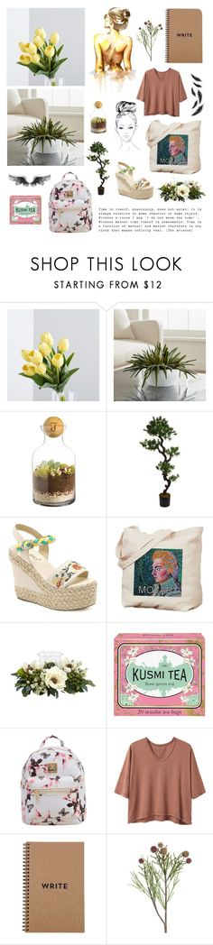"""""""Air"""" by isabella-singery ❤ liked on Polyvore featuring Crate and Barrel, Cathy's Concepts, Laura Ashley, Nearly Natural, Kusmi Tea, Alexander Yamaguchi and Brika"""