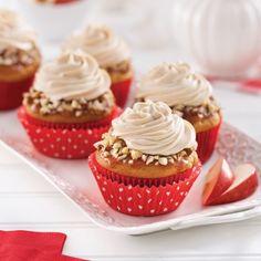 Cupcakes aux pommes, glaçage caramel - Recettes - Cuisine et nutrition - Pratico Pratique