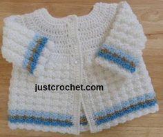 (4) Name: 'Crocheting : FJC07-Textured Coat baby crochet pattern