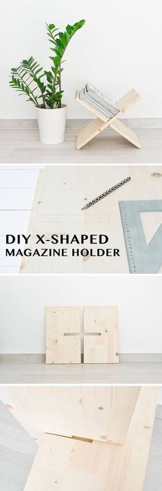 DIY X Shaped Magazine Holder | Easy DIY Home Decor Craft Projects