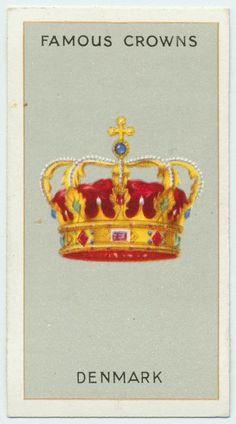 Arents Cigarette Cards - Famous Crowns - Denmark