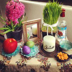 My very simple haft sin. Happy Norooz!