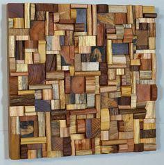 Wooden art, eco art, wooden blocks panel, wood art