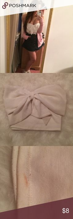 Bow Bandeau Style Top Stain shown on back of top Charlotte Russe Tops Crop Tops
