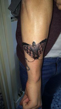 #moth #blackandwhite #men #tattoo #tattooformen