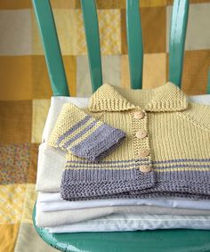 Ravelry: Striped Baby Jacket pattern by Megan Goodacre