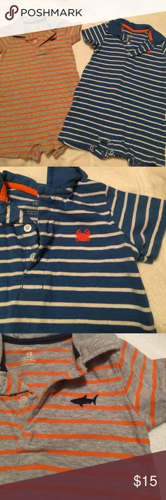 Bundle of boys outfits/rompers Perfect for summer! Both in excellent condition! Carter's Other