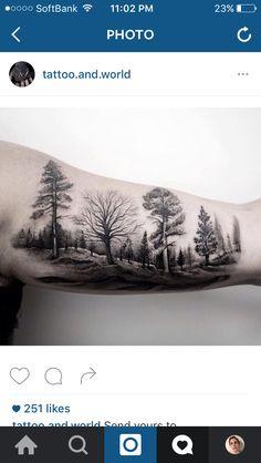 Tree line tattoo
