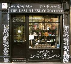 11 Mare Street, Hackney. An emporium of artifacts and objects assembled on the basis of their aesthetic or historical reference, and home of the Last Tuesday Society.