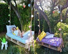 DIY pallet swing #Home #Garden #Trusper #Tip