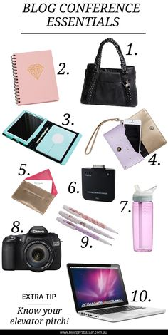 Off to a blog conference soon? Check out these blog conference essentials. Make sure you pack these! #blogging #bloggingevent