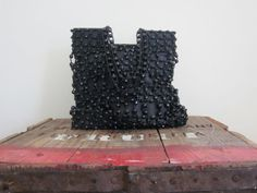 Black Evening Bag / 80s Purse / Beaded by TheThriftingMagpie, $25.00